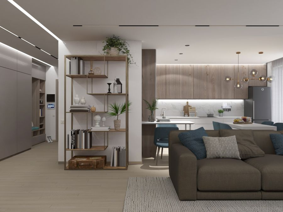 Фото - Дизайн трехкомнатной квартиры в ЖК