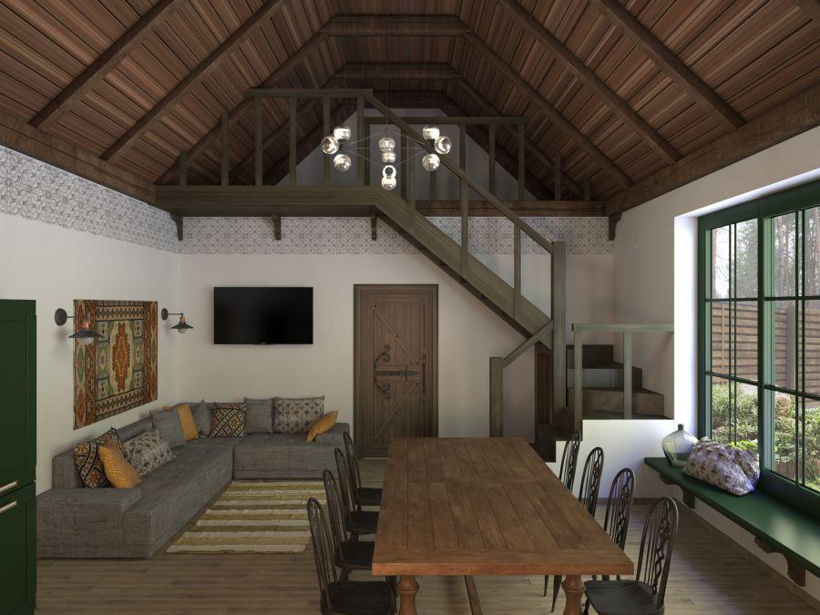 Фото - Дизайн гостевого домика в стиле украинской колыбы 2018год