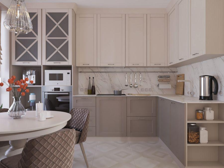 Фото - Кухня-гостиная для пожилой пары