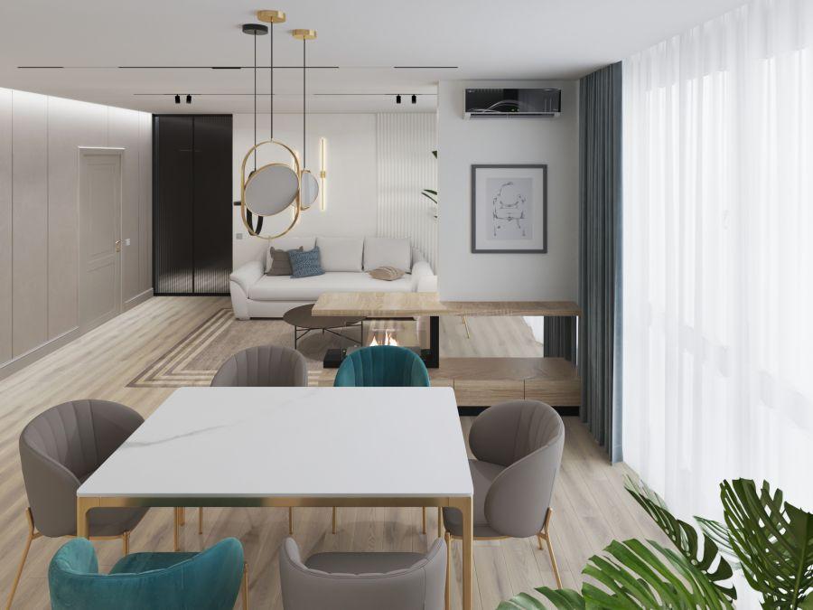 Фото - Трехкомнатная квартира в современном стиле 2021